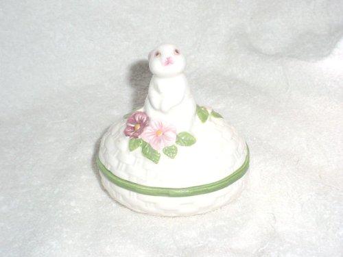 Avon 1982 Ceramic Bunny Luv Trinket (Avon Trinket Box)
