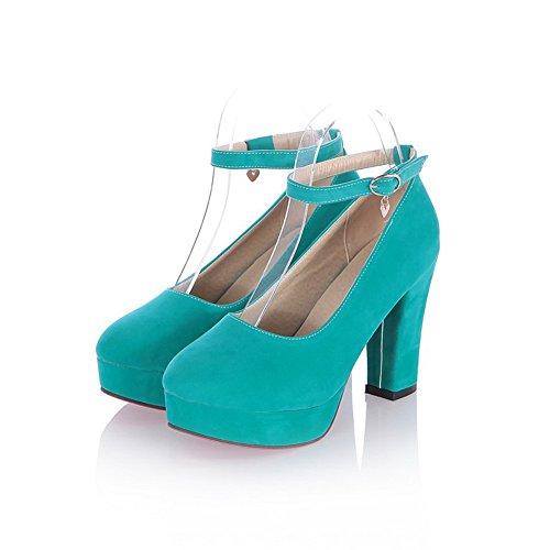 Balamasa Damer Fasta Kick-häl Imiterade Läder Pumpar-shoes Mörkblå
