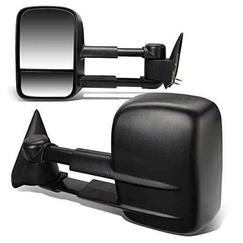 - DNA MOTORING TWM-001-T222-BK Pair Of Towing Side Mirrors, Driver and Passenger Sides