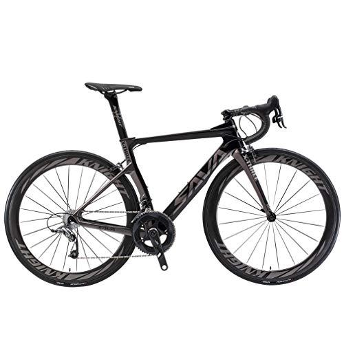 🥇 SAVADECK Phantom 2.0 700C Bicicleta de Carretera de Fibra de Carbono Shimano Ultegra R8000 22-Velocidad Sistema Michelin 25C Neumáticos Fi'zi: k Cojín