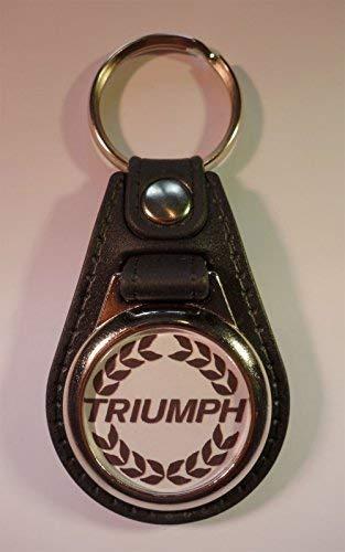 Vintage Sign Designs Qualit/é Premium Faux Cuir Triumph Porte-Cl/és Cl/é Fob