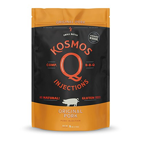 Kosmos Q Original Barbecue Pork Injection | Seasoning & Marinade | MSG & Gluten Free | Just Add Apple Juice, Peach Nectar or Water