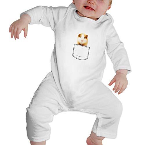 Guinea Pig in Pocket Baby Boy Girl Long Sleeve Bodysuit Onsies -