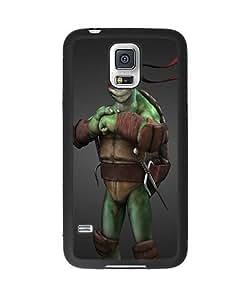 Samsung Galaxy S5 Case, Personalized Tmnt Teenage Mutant Ninja Turtles Slim Grip TPU Bumper with Hard Plastic Back Case for Samsung Galaxy S5