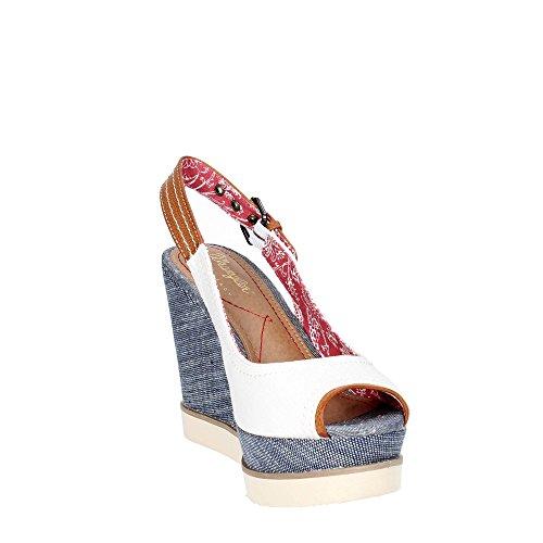Wrangler WL171682 Zapatos De Cuña Mujer White