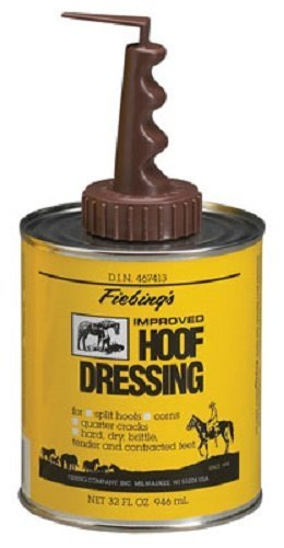 Fiebing's Improved Hoof Dressing Oil Conditioner for Horses Split Hooves, Corns, and Cracks by Fiebing's