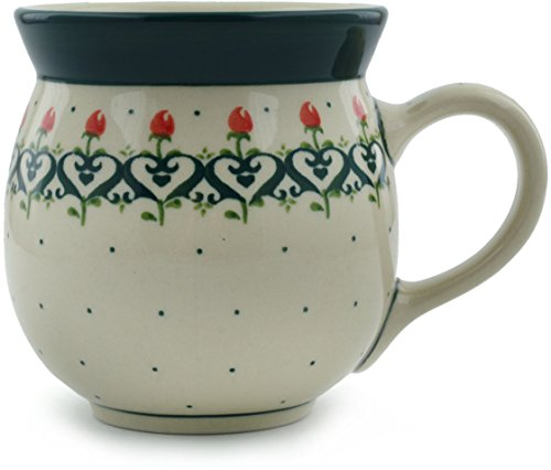 Polish Pottery Bubble Mug 16 oz Lovely Rose