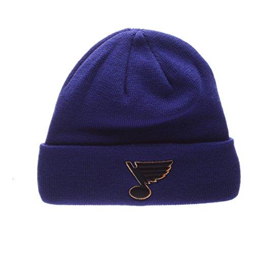 ZHATS St Louis Blue Royal Blue Cuff POP Beanie Hat - NHL Cuffed Winter Knit Toque Cap (Pop Hat Knit)