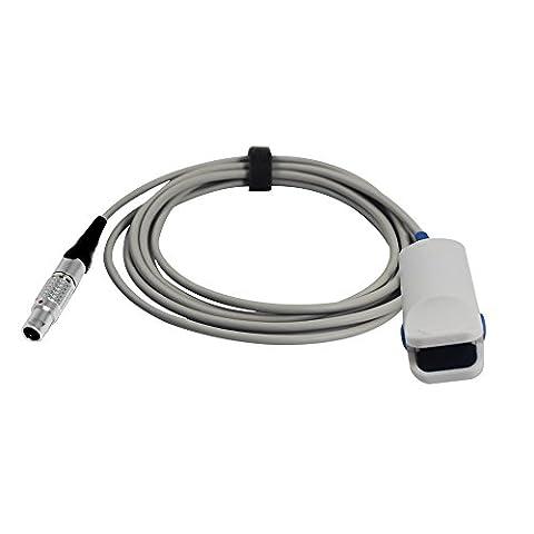 Medke Compatible Criticare CSI 934-10LN Spo2 Sensor Adult Finger Clip 9.8 ft 5 Pins Connector FDA/CE - Digit Finger Pulse Oximeter