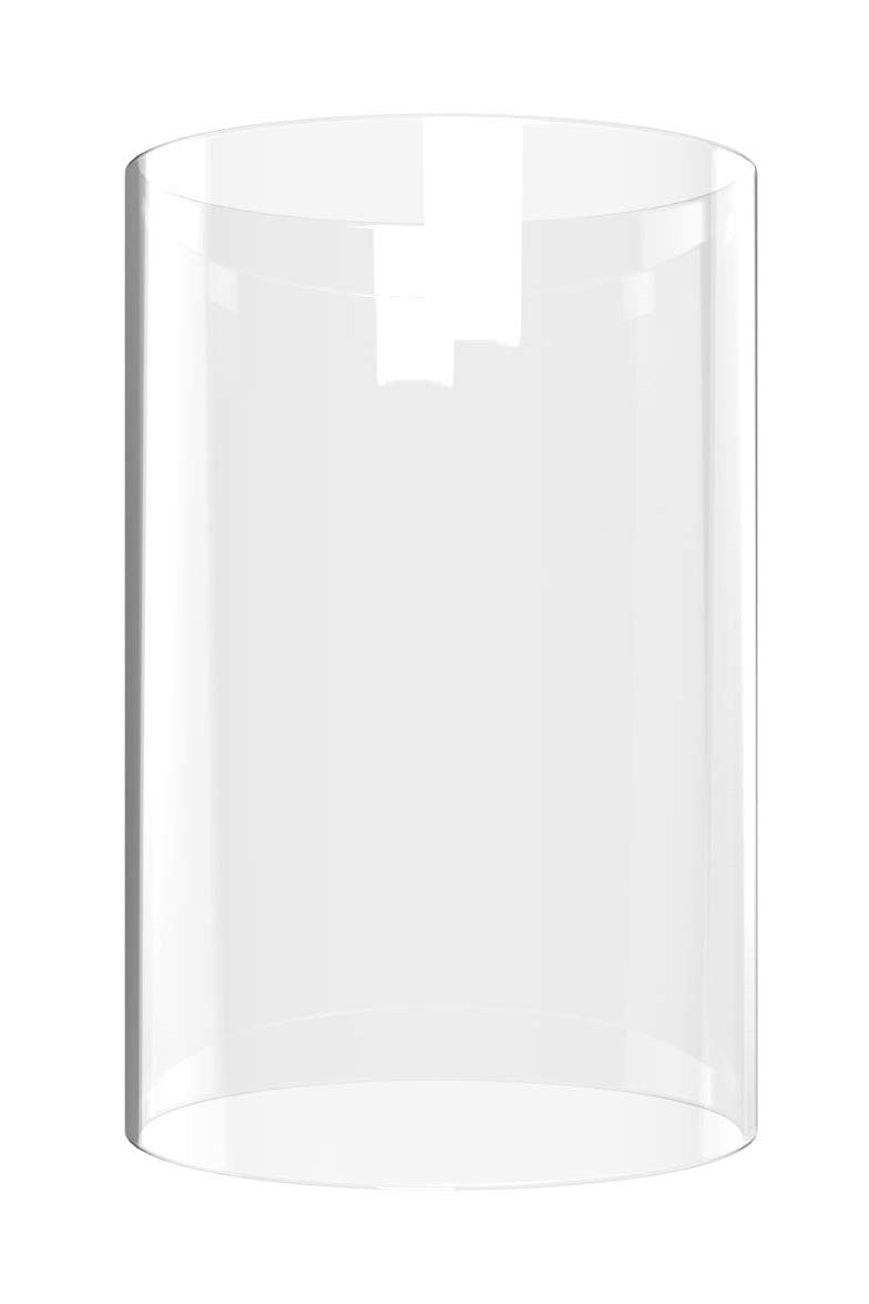 AMAYON Glass Cylinder Chimney Lampshade - Candle Holders Open End 14'' High 4'' Wide- Multiple Specifications - Tall Glass Cylinder Vase