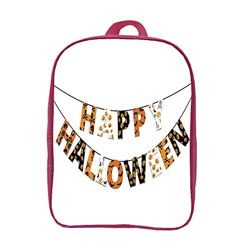 iPrint Children's Backpacks Schoolbag Fashion,Halloween,Happy Halloween Banner Greetings