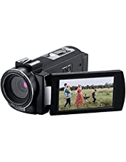 Camcorder ORDRO AE7 2.7K Video Camera Camcorder HD Vlog Camera Infrared Night Vision 2.7K 30FPS 48MP CMOS Sensor Digital Camera Recorder with 2 Batteries and Remote Control