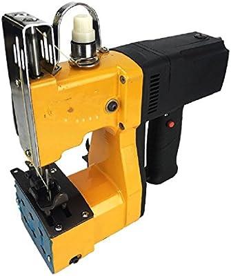 BAOSHISHAN Máquina de coser de mano portátil Herramienta de sellado Bolsa tejida Equipo de embalaje eléctrico Bolsa manual Costura Costura Bolsa más cerca Bolsa de arroz Sellador de bolsas 220V: Amazon.es: Industria,