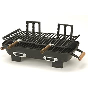 Marsh Allen 30052 Cast Iron Hibachi 10 By 18 Inch Charcoal Grill