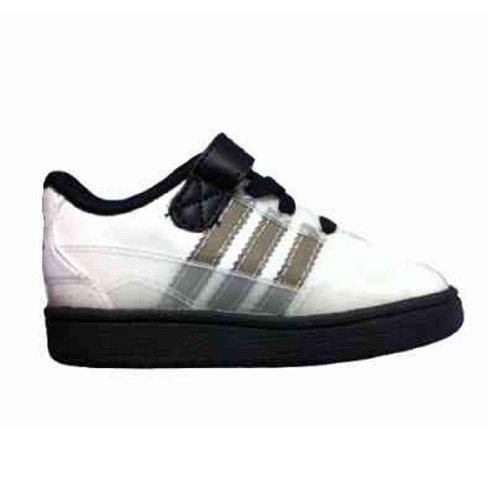 Adidas Forum Lo Top Black/White/Gray Infants 9