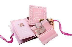 Goldbuch 85916  -  Caja de sorpresas de regalo por bebé recién nacido  color rosa [Importado de Alemania]