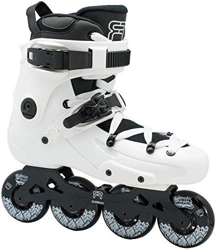 FR Skates FR1 White 80 2019 Inline Skates for Freeride, Slalom, City Skating. Popular French Brand