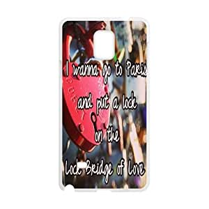 Clzpg New Fashion Samsung Galaxy Note4 Case - Love Lock diy cell phone case