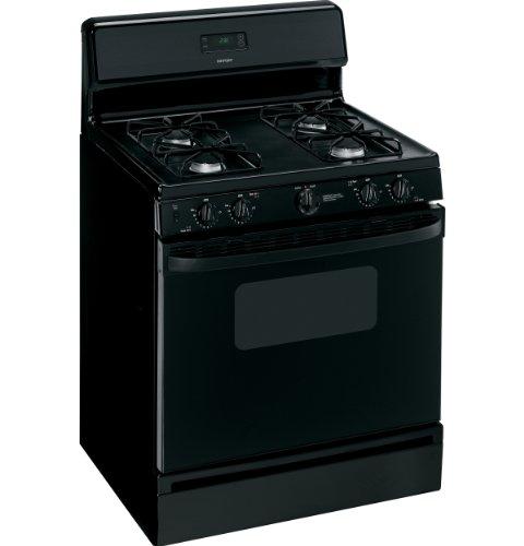 Hotpoint RGB530DETBB 30″ Black Gas Sealed Burner Range image