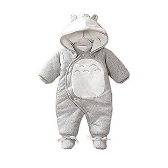 Vanies Nouvelle Combinaison bébé Hiver bébé Chaud et épais, Hiver Gris  Totoro, 73CM ae519747b1c