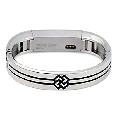 bayite Jewelry Bangle For Fitbit Alta Accessory Bracelet Metal Band, Unadjustable One-size,Silver, Rose Gold, Yellow Gold