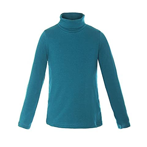 ReliBeauty Girls Cotton Turtleneck Long Sleeve T-Shirt, 2T-3T, Turquoise - Turquoise Girls Shirt