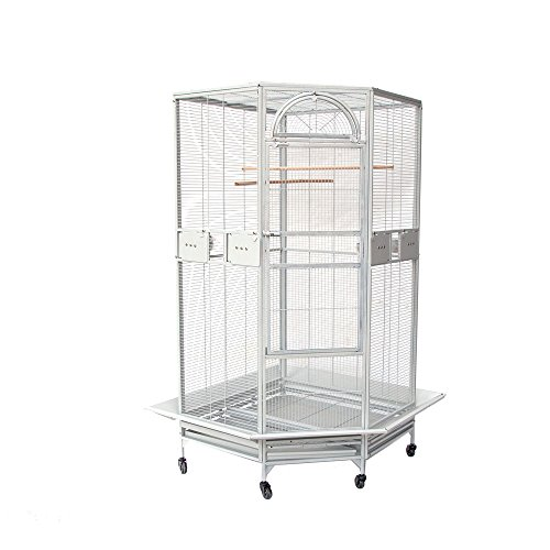 Flyline Corner Bird Cage for Cockatiel Parakeet Budgies P...
