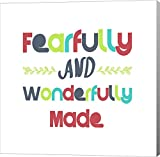 Fearfully and Wonderfully Made - Red and Blue by Color Me Happy Canvas Art Wall Picture, Gallery Wrap, 37 x 37 inches