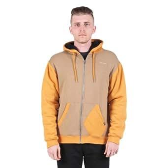 Volcom Higgens Lined Full-Zip Hoodie - Men's Dark Khaki, XL