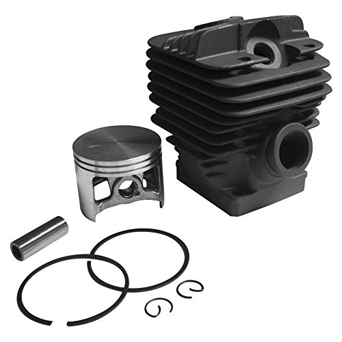 Cylinder and Piston Kit 54mm For Stihl 066, MS660, Chrome, Decompression (1122 020 1209, 1122 020 - Chrome Ring Piston