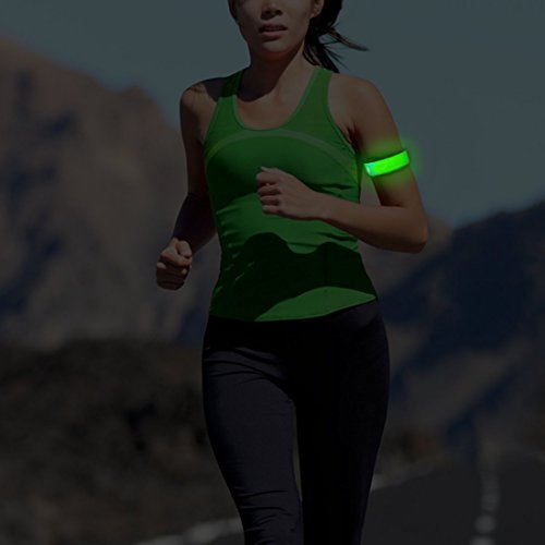 MKOOL Pack of 2 LED Safety Slap Armband for Running,Cycling,Jogging or Walking At Night