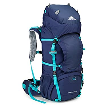 High Sierra Women's Explorer 50 Internal Frame Pack, True Navy/True Navy/Tropic Teal