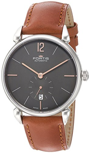 Fortis-Mens-9002031-L38-Orchestra-Analog-Display-Automatic-Self-Wind-Brown-Watch