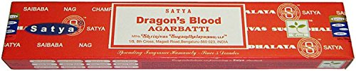 Satya Dragon's Blood - Twelve 15 Gram Boxes - Satya Sai Baba Incense