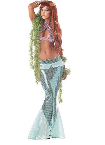 [Mememall Fashion Sexy Mesmerizing Mermaid Ariel Adult Halloween Costume] (Merida Costume For Adults)