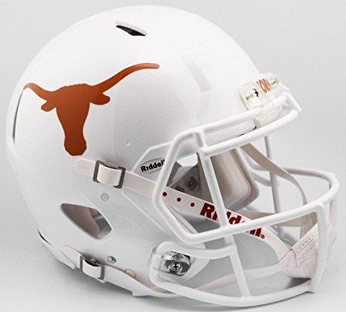 (Riddell NCAA Texas Longhorns Helmet Full Size AuthenticHelmet Authentic Full Size Speed Style 2017 Design, Team Colors, One Size)