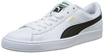 Puma Unisex Adults' Basket Classic Lfs Low-Top Sneakers, White-black, 7.5 UK,354367