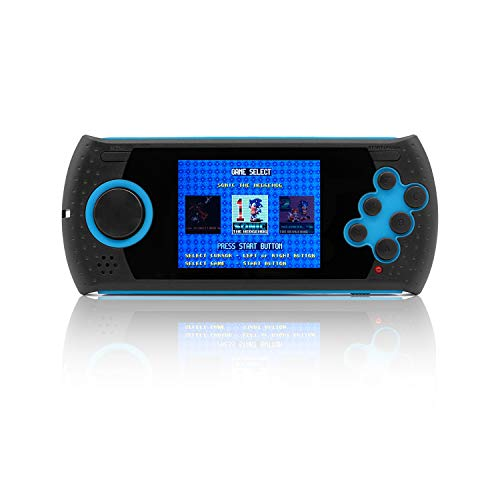 OctiveMe Portable Game Console,Retro Video Game Player 16 Bit 3 inch LCD Display 100 Classic Games Built-in,Digital Gaming System for 80s & 90s (Blue & - Games 100 Handheld