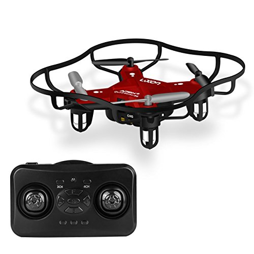 Remote Control Airplane RC Mini Drone for Kids 2.4Ghz 6-Axis Gyro 4 Channels Quadcopter Indoor/Outdoor Flying Helicopter RTF for Beginner Drone Training (Red)