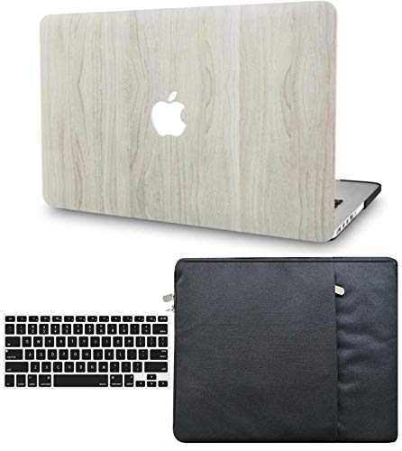 """KECC Laptop Case for MacBook Air 13"""" Retina (2020, Touch ID) w/Keyboard Cover + Sleeve Plastic Hard Shell Case A2179 3 in 1 Bundle (Pine Wood 2)"""