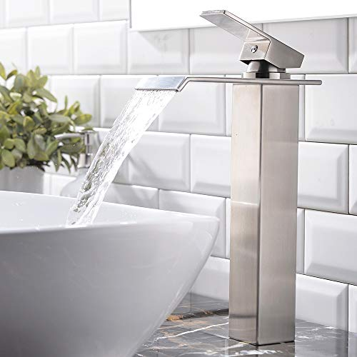 vessel sink faucet waterfall - 8