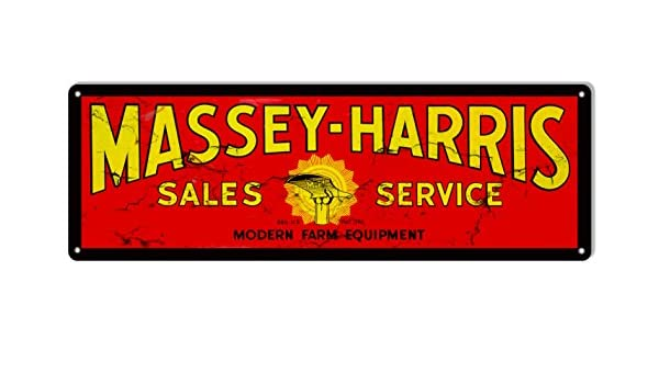 Massey Harris Farm Equipment Reproduction Country Metal Sign 6x18