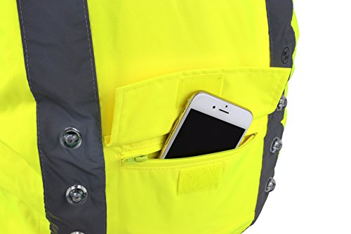Hi Vis Tasche Cover mit blinkendem LED-Lichter für Sichtbarkeit, wasserdichter Rucksack Rucksack Cover
