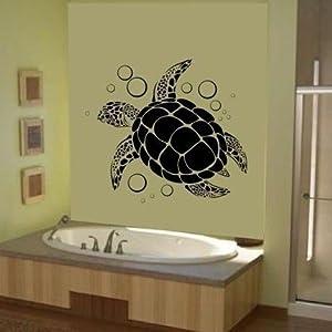 Sea Turtle Wall Art Vinyl Decal Sticker Graphic Ocean Hawaiian By LKS Trading Post
