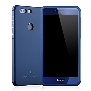 SMTR Huawei Honor 8 Funda Silicona,Huawei Honor 8 Funda Gel Suave TPU Case - Carcasa Resistente a los Arañazos para Huawei Honor 8 -Azul