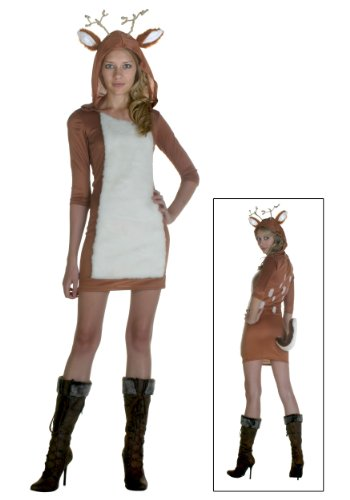 Deer Costumes Sexy (Plus Size Sexy Deer Costume 2X)