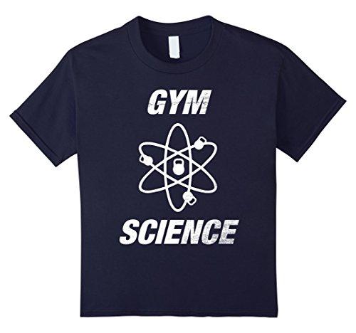Kids GYM Bro Science Kettlebell Cross Training Bodybuilding Shirt 12 (Gym Bro Costume)