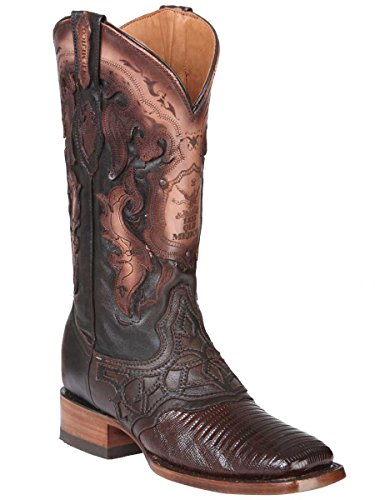 Old Mejico Western Boot Exotic Lizard Teju ID 301076 CS5N Cigar (9.5)