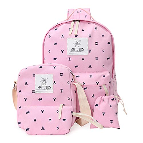 Taichao Girl Schoolbag Backpack Travel Shoulder Crossbody Handbag Drawstring Bags 4 In 1 from Taichao