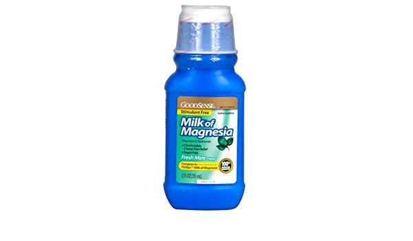 Amazon.com: GoodSense Milk of Magnesia Saline Laxative, Mint, 12 Fluid Ounce: Health & Personal Care